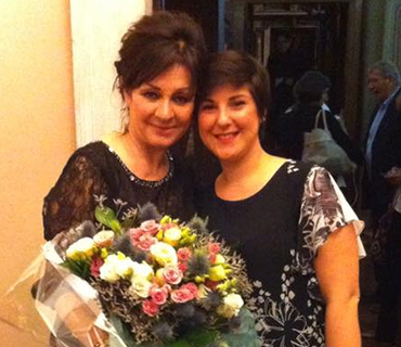 Photo of the soprano Marta Mari with Daniela Dessì